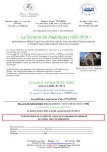 Bulletin de participation et paiement 6 octobre 2014