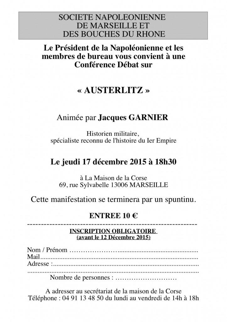 Société Napoléonienne - Décembre 2015