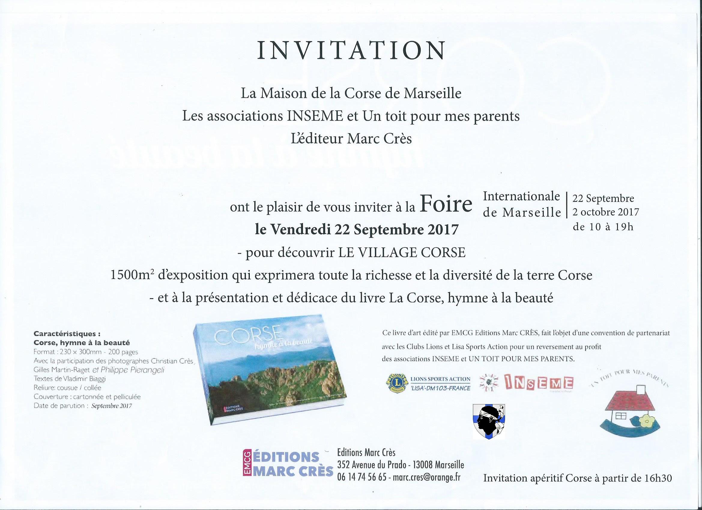 Casa di a corsica - Invitation foire de lyon 2017 ...