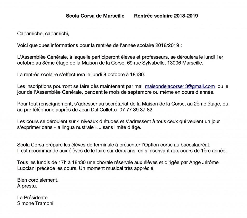 Rentrée scola corsa 2018_2019