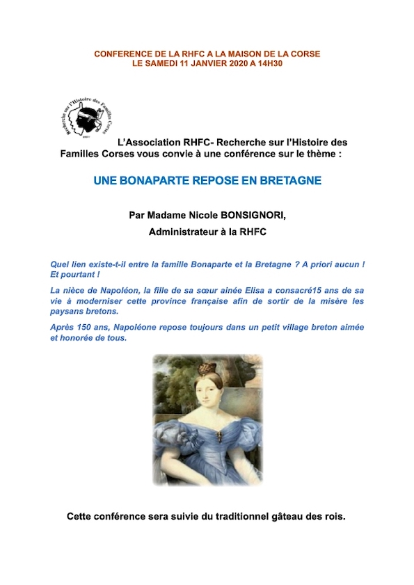 Conference de Nicole BONSIGNORI 11 JANVIER 2020  -RHFC